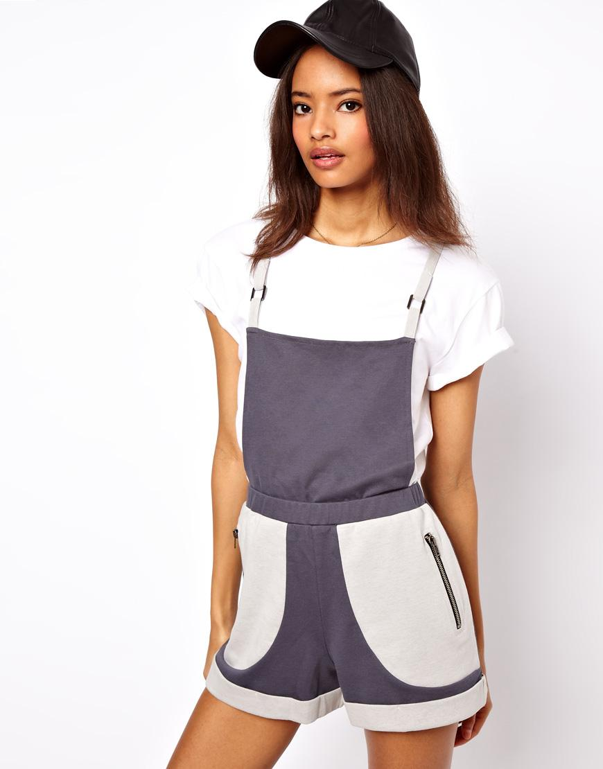 jersey overall dungaree