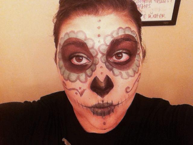 sugar skull makeup look - storybookapothecary.com
