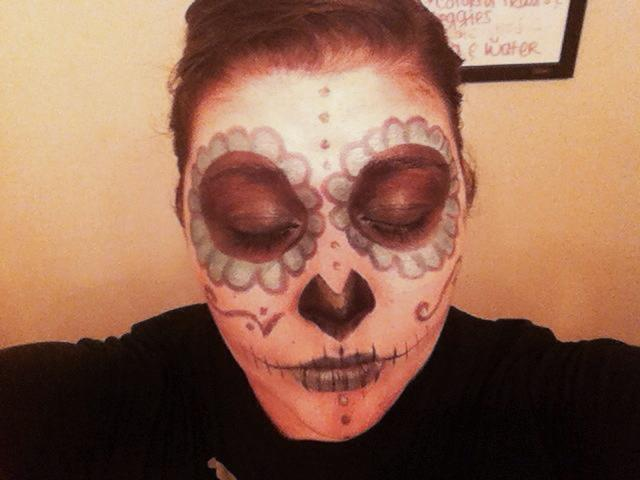 sugar skull makeup look - storybookapothecary.com