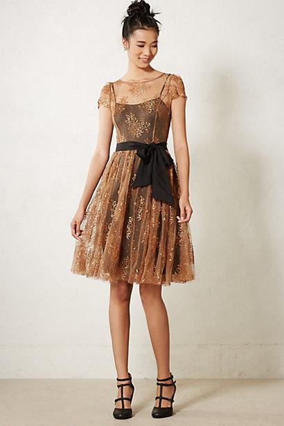 Honeyed Lace Dress