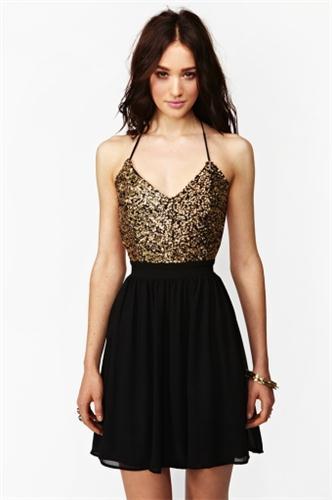 Golden Hour Sequin Dress