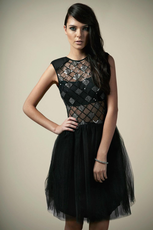 Boutique Michelle Sequin Body Tutu Prom Dress