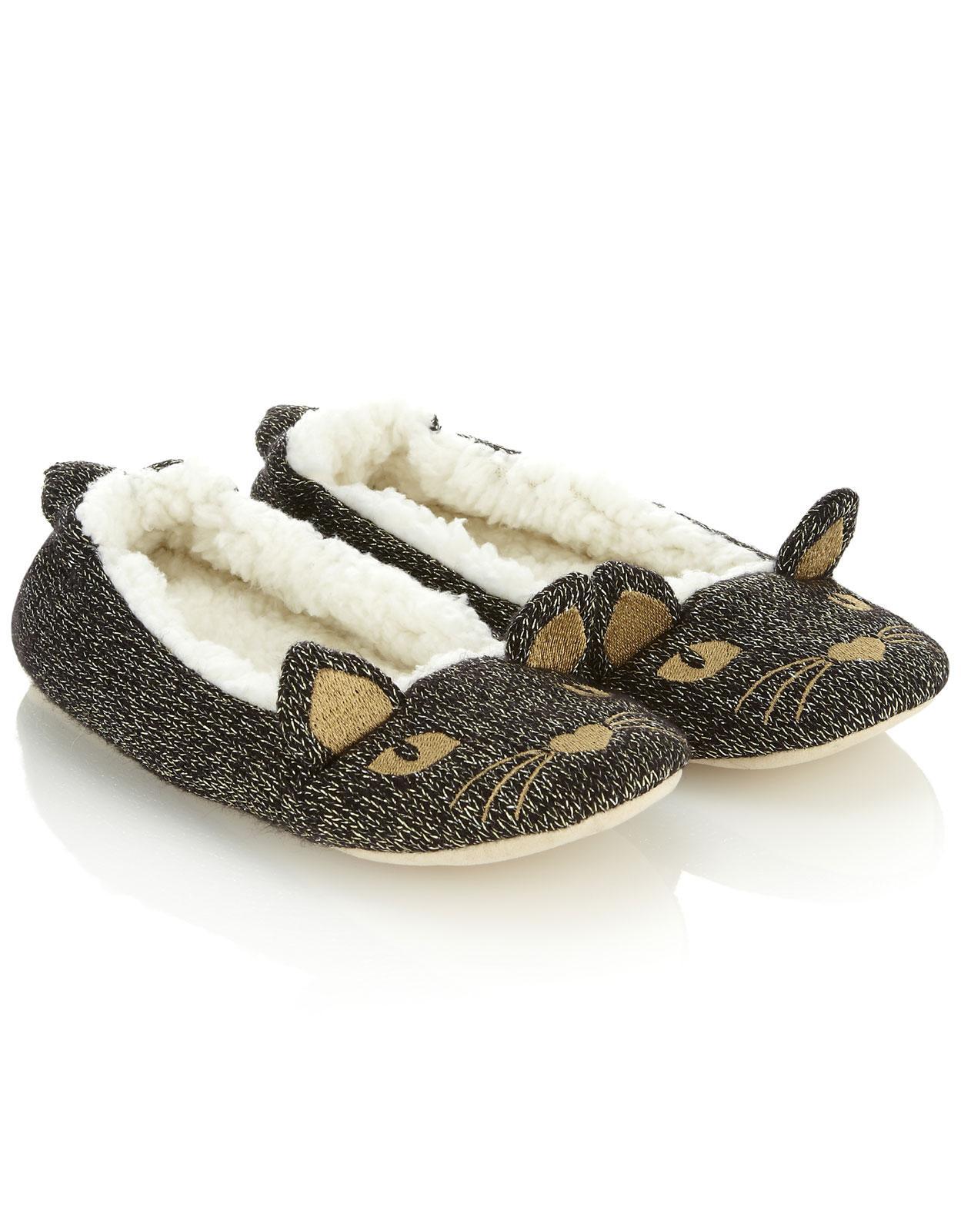 Katy Cat glitzernde Ballerina slippers