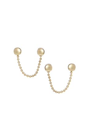 ASOS Tiny Stud Chain Earrings
