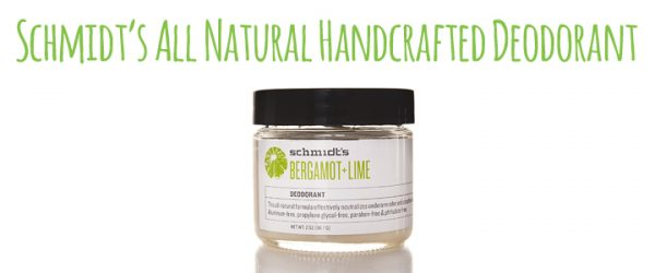 Schmidt's All Natural Handcrafted Deodorant Review