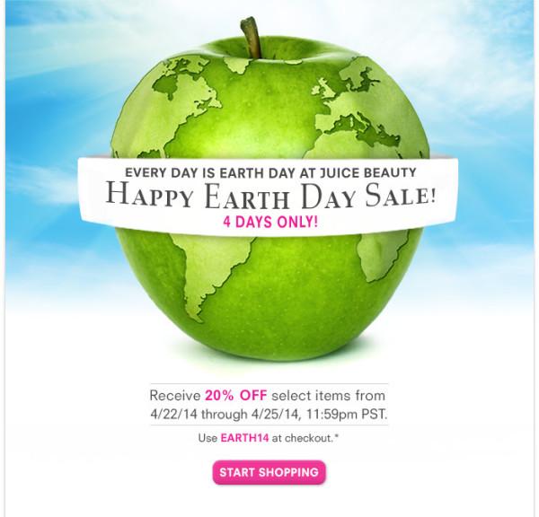 Juice Beauty Earth Day Deal!