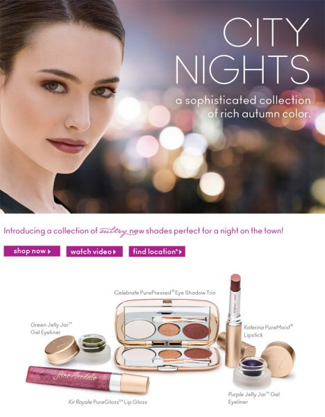 Jane Iredale Fall Makeup: City Nights Collection