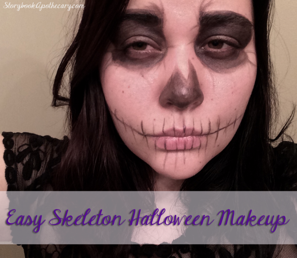 Super Easy Skeleton Makeup - Click through to See More Cute & Cheap Halloween Costume Ideas!