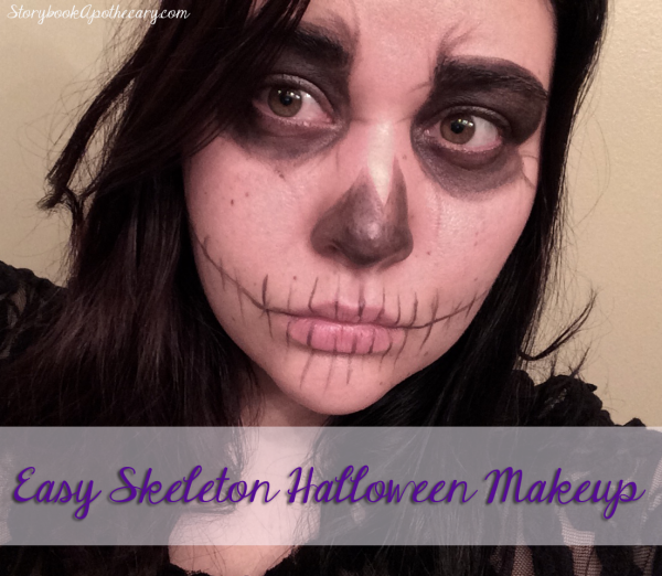 Easy Skeleton Halloween Makeup Look Using Only 1 Product!