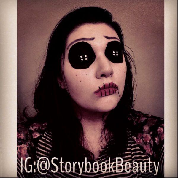 The Other Coraline Halloween Makeup Look