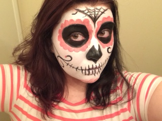 Pink Sugar Skull Makeup Look: Perfect for Halloween and Day of the Dead!
