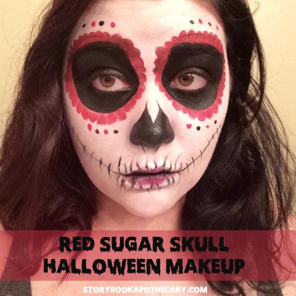 Dia de Los Muertos Red Sugar Skull Makeup