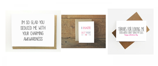 Unconventional Valentine's Day Greeting Cards