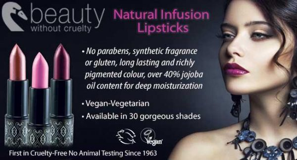 Beauty Without Cruelty Lipstick and Lip Gloss Review
