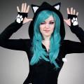 black cat hoodie ears