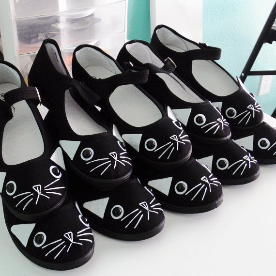 black kitty cat shoes mary jane