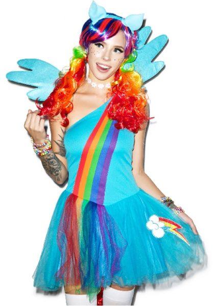 rainbow dash girl costume