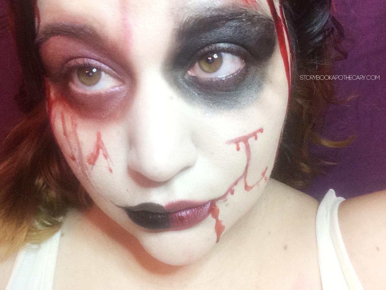 Harley Quinn Makeup   Storybook Apothecary