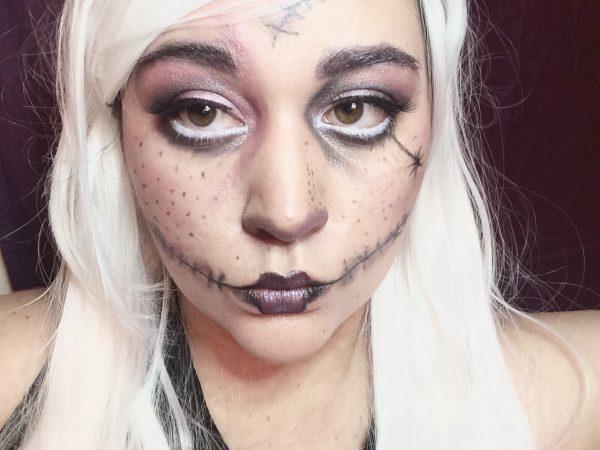 stitch doll makeup - non-toxic halloween makeup