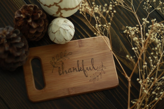 thankful wooden cutting board eco gifts