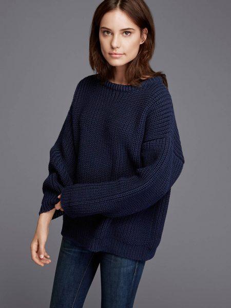 zady navy chunky knit sweater