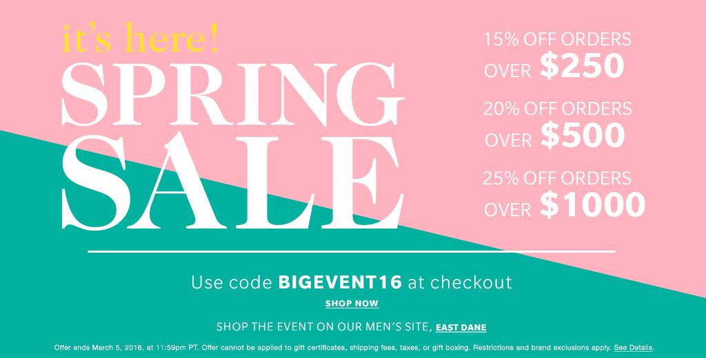 spring sale shopbop