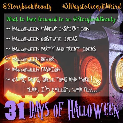 31 Days to Creep It Weird on Instagram - StorybookBeauty IG