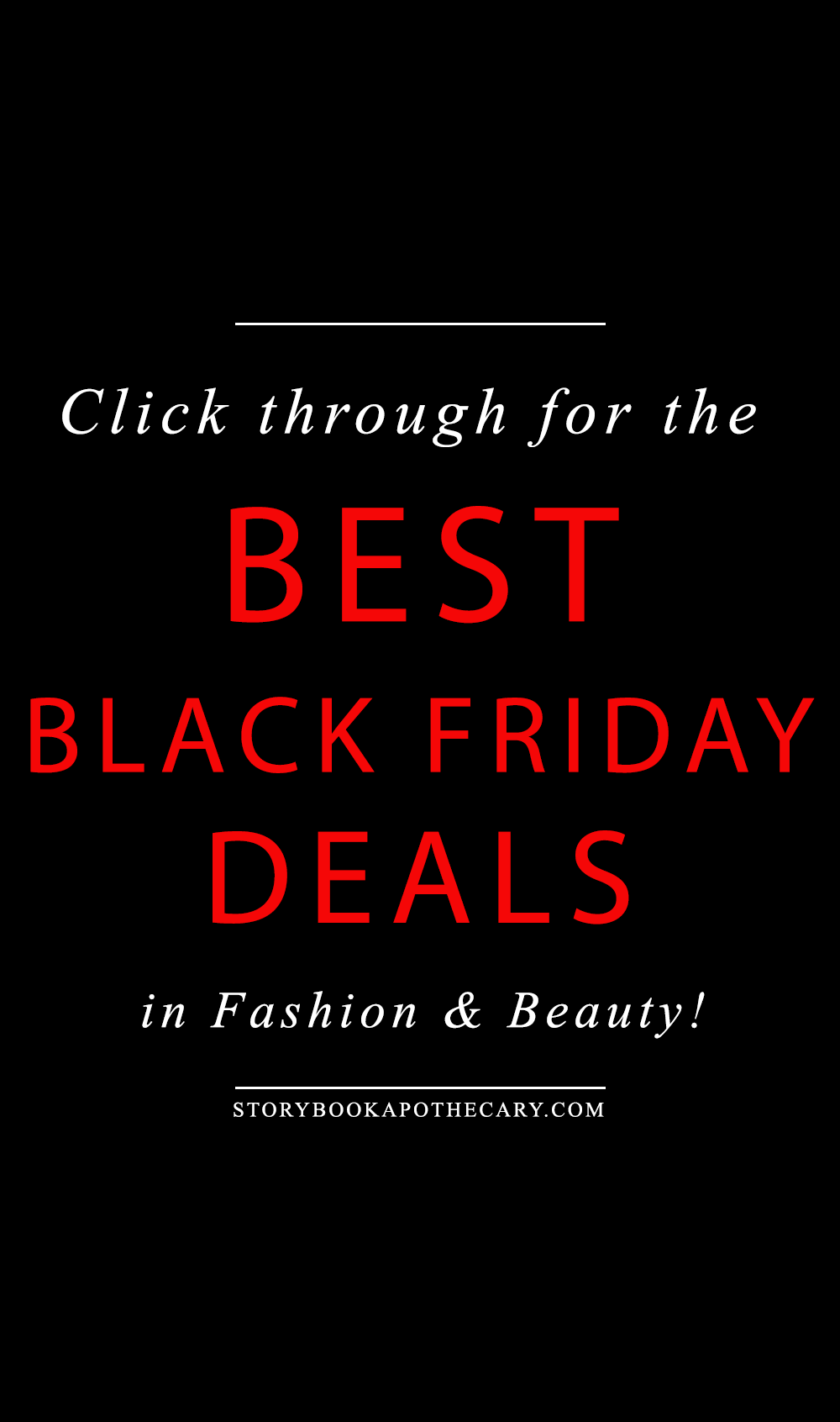 Click through for the BEST Black Friday Deals in green beauty and fashion!