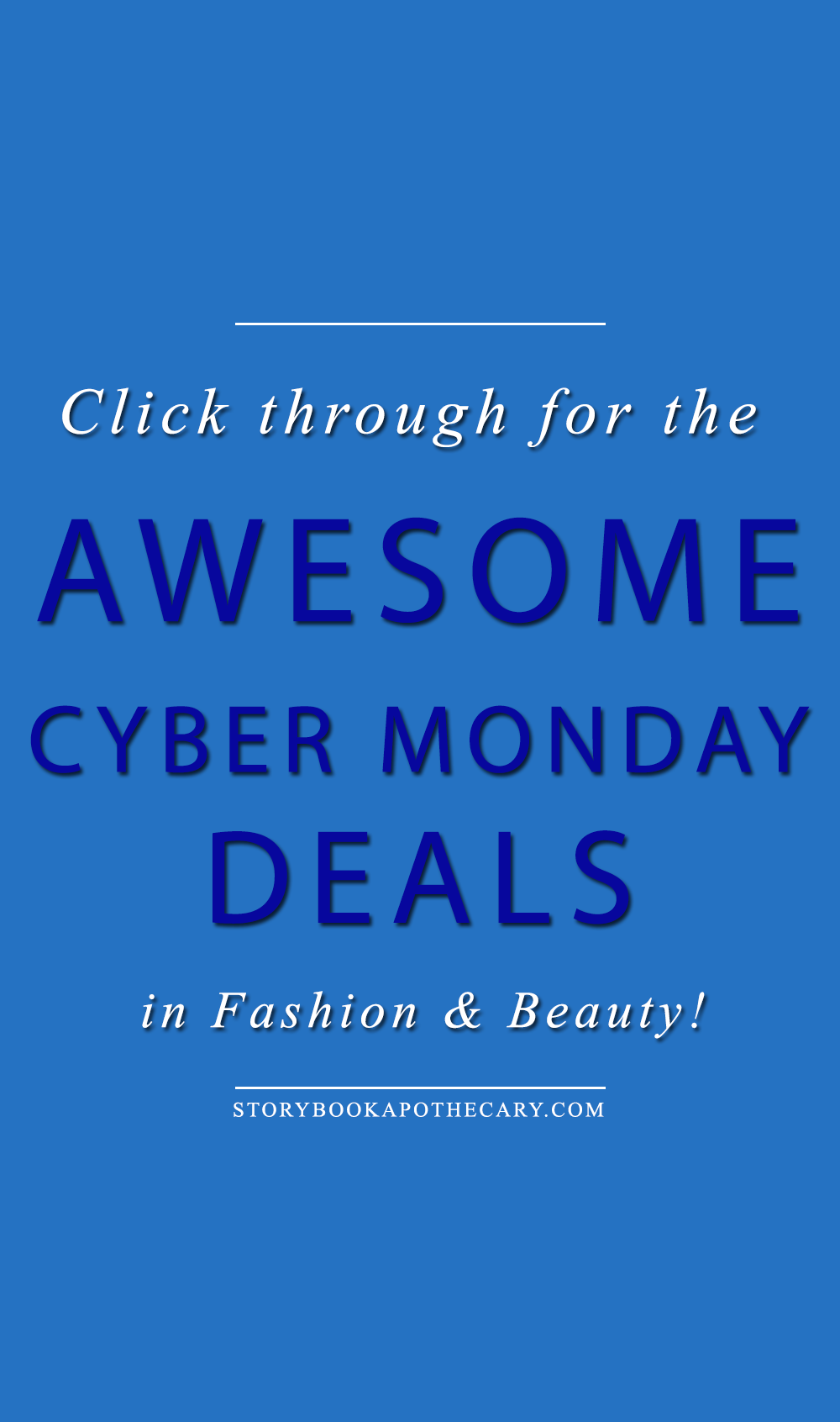 Click through for AWESOME Cyber Monday Deals in beauty and fashion!