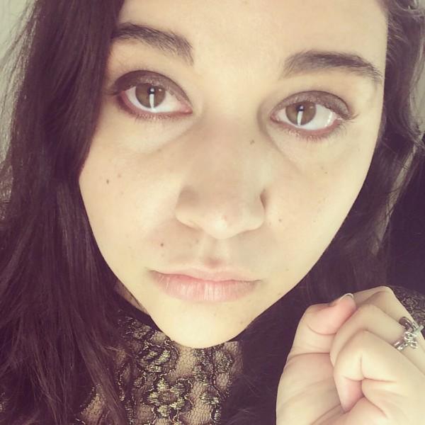 Bronze Smoky Eye Makeup and Nude Lips