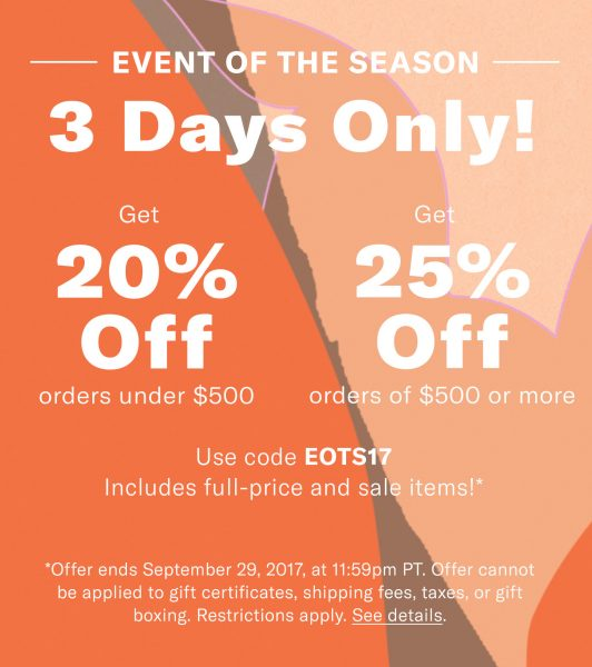 Shopbop Early Fall Sale!