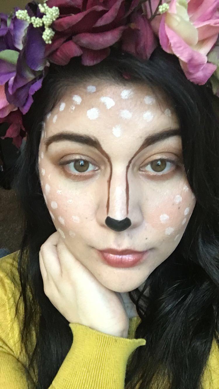 Halloween makeup - fawn makeup